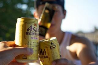 野外ビール