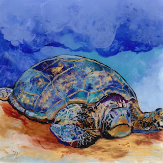 Honu at Poipu Beach 2 Original Painting