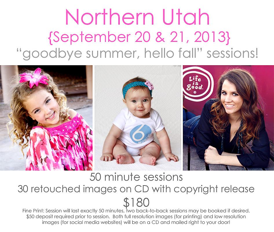Northern Utah - Here I come!