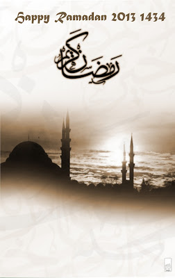 Welcome Ramadan 2013 Cards for smartphone
