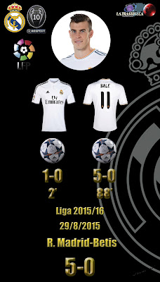 Real Madrid 5 - 0 Betis - Liga 2015/16 - Jornada 2 - (29/8/2015)