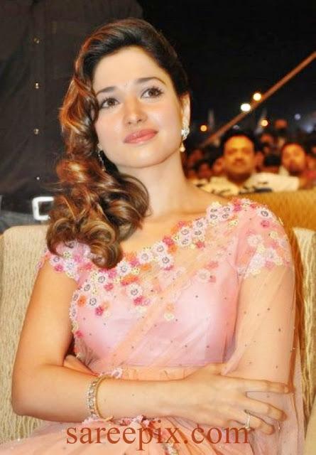 saree with white short sleeves blouse saree at her telugu movie ...