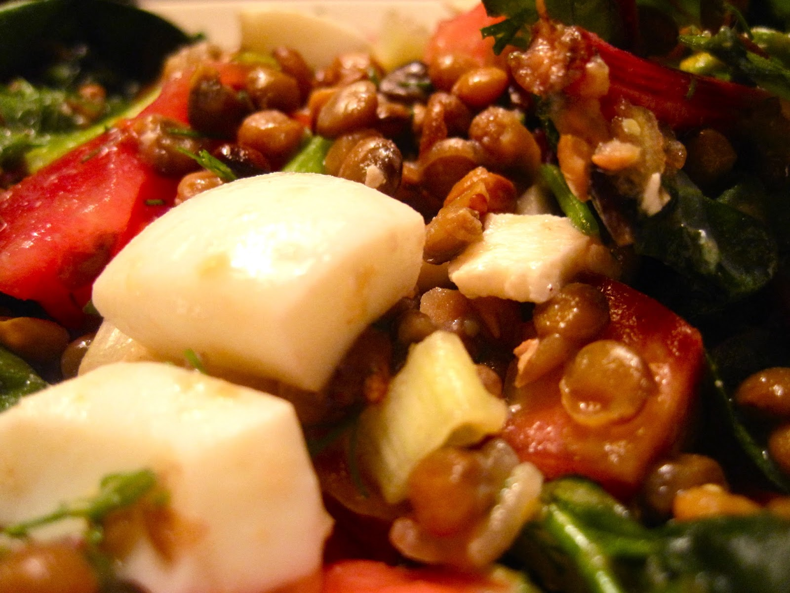 Kvell in the Kitchen: Chopped Lentil Salad with Swiss ...