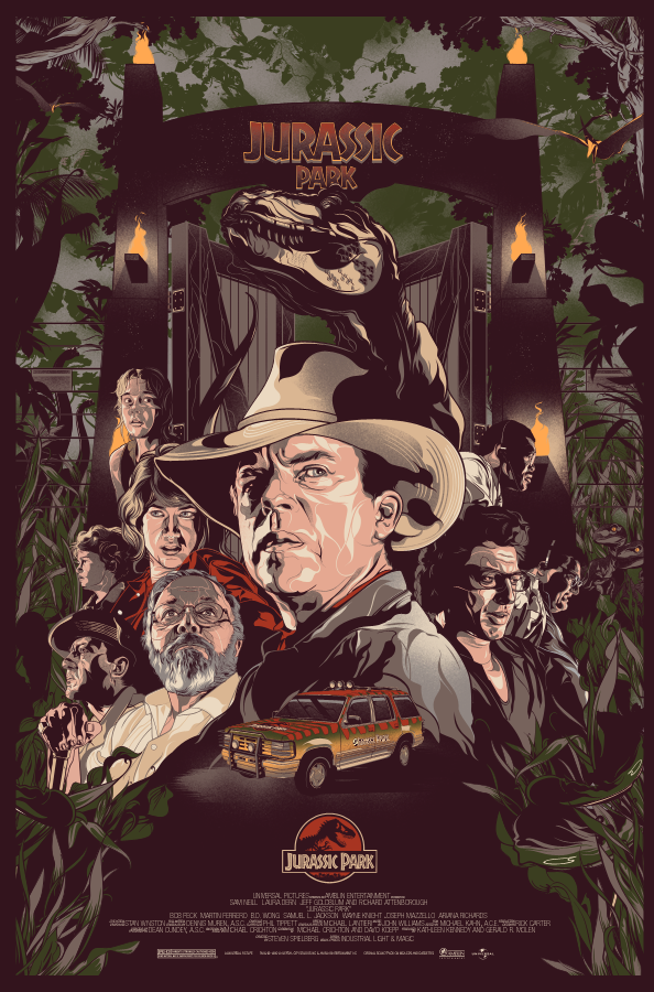 The Geeky Nerfherder: Cool Art: 'Jurassic Park' by Vincent ...