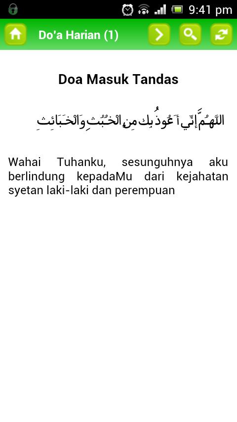 17 Doa Harian PAS Lancar Aplikasi Android Touch `n Get (TnG)