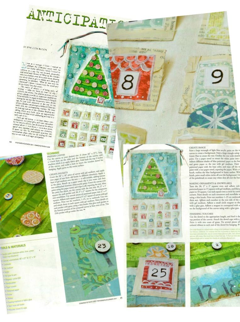 Handmade Calendar Tutorial : Art by erin leigh handmade christmas mixed media