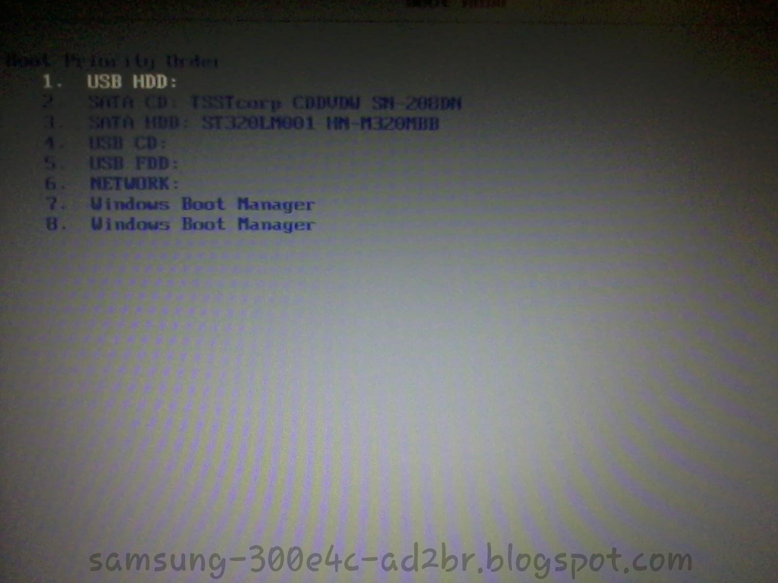 Notebook samsung dar boot - E Mude A Ordem De Boot Colocando Como Primeiro Usb Hdd Como Mostra A Imagem Abaixo