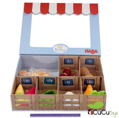 cucutoys Haba - Juego mercado de verduras