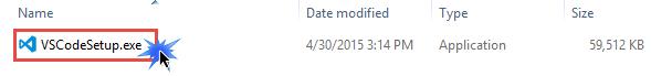 Visual Studio Code Setup file