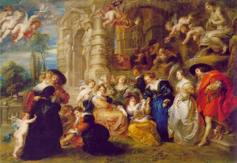 """Picture of """"The Garden of Love"""" by Peter Paul Rubens, 1633"""