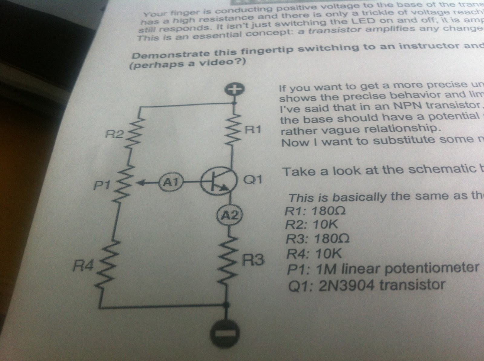 Transistor Switching Engineering 44 Switch Circuits In This Phase A Potentiometer Was Added To The Circuit Allows Resistance Be Varied We Placed Two Ammeters Measure I1 And I2