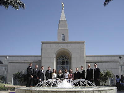 Elder Anderson is fourth missionary from the left