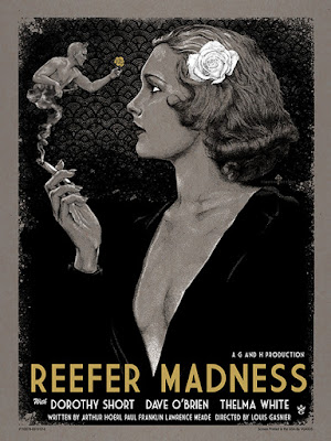 Reefer Madness Screen Print by Timothy Pittides