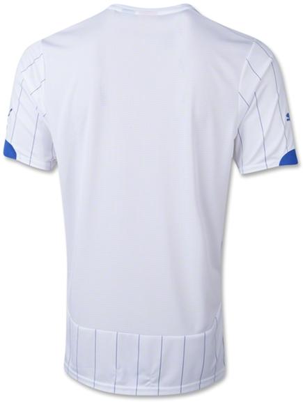 Jersey Bola Grade Ori Italy Away Puma 2014 World Cup Italy White Thailand Soccer Jersey