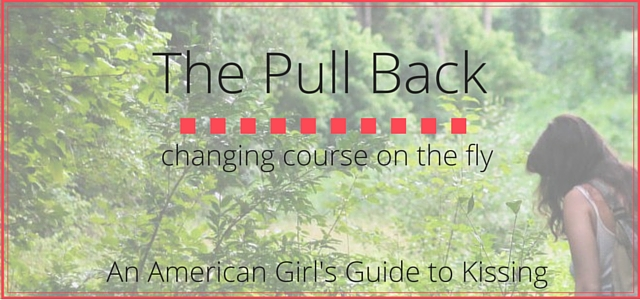 The Pull Back: sometimes you start a cheek kiss and realize you're wrong. || An American Girl's Guide to Kissing