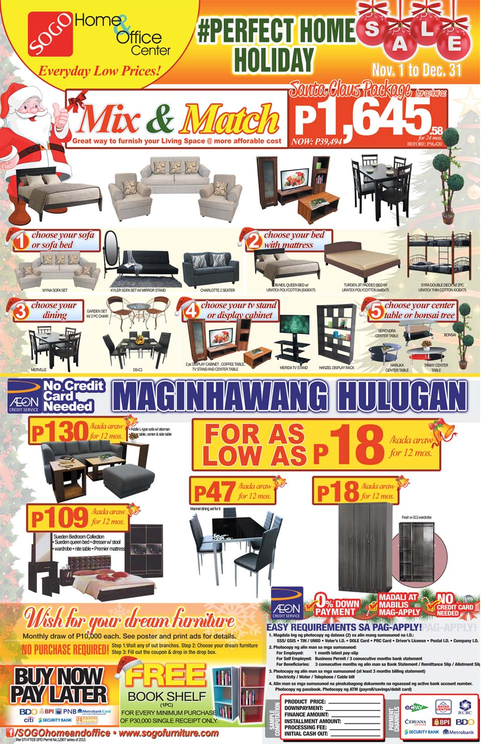 Sogo home office center perfect holiday sale ednything Robinson s home furniture philippines