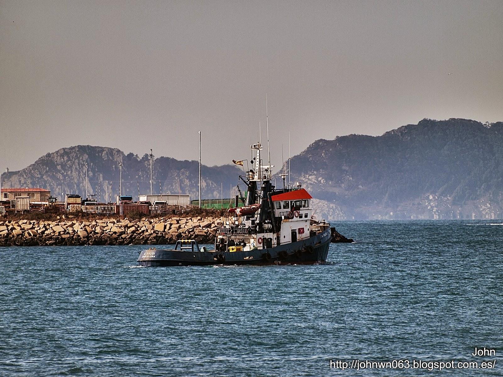 fotos de barcos, imagenes de barcos, a. gaudi, remolcador, vigo