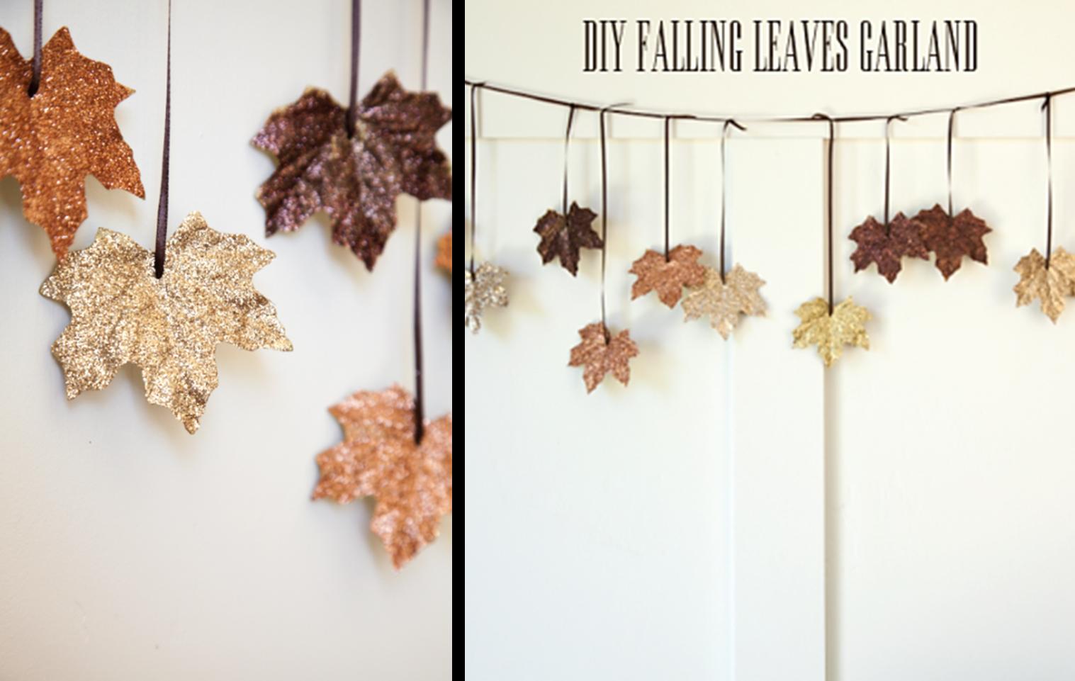 Decoraci n f cil 6 guirnaldas para el oto o con hojas - Hojas de otono para decorar ...