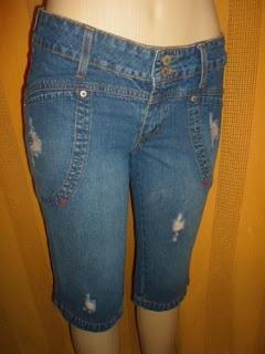 bermuda jeans tamanho médio