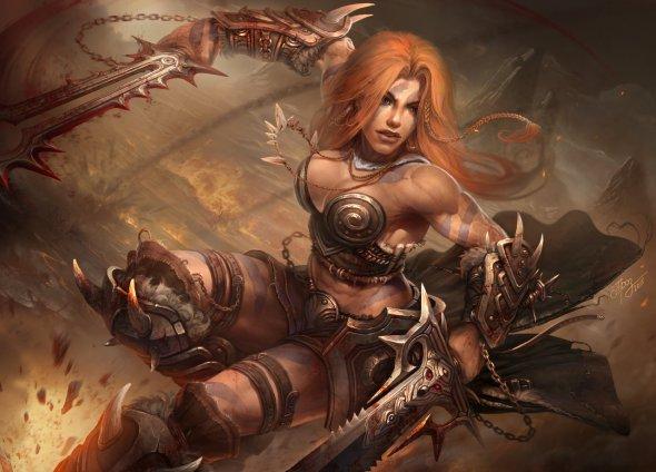 Dmitriy Prozorov TamplierPainter deviantart ilustrações fantasia games blizzard diablo warcraft mulheres