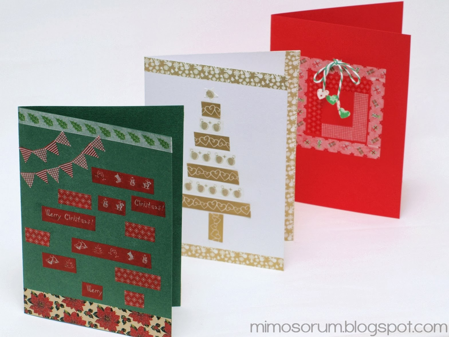 DIY: Cómo hacer tarjetas de Navidad con cartulina y washi tape.
