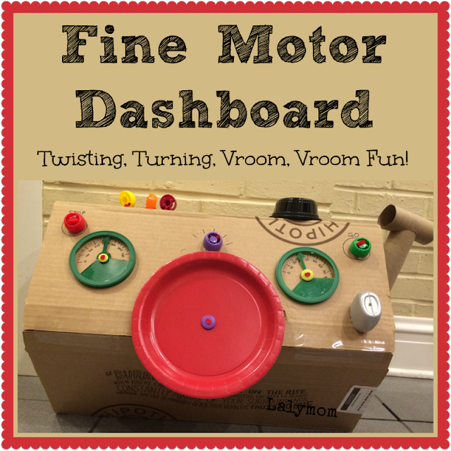 Fine Motor Development Activity for Kids - DIY Dashboard from Lalymom #ECE #FineMotor