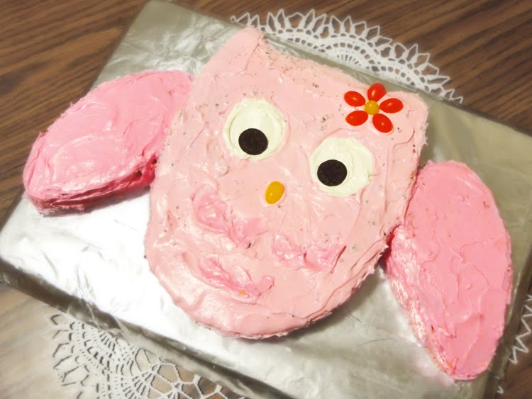 Enduring Arts Simple Owl Cake Directions