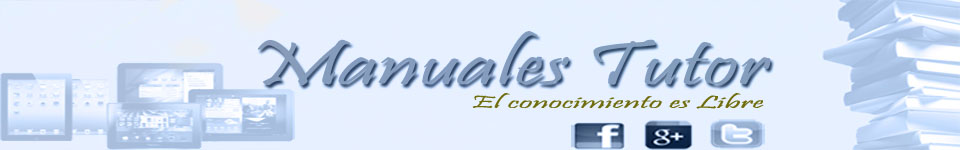 Manuales Tutor |Videos tutoriales