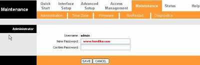 Cara Reset Key Password dan Username Modem ADSL TP Link