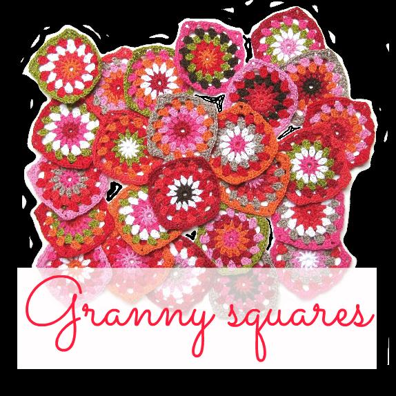 Granny square met cirkel