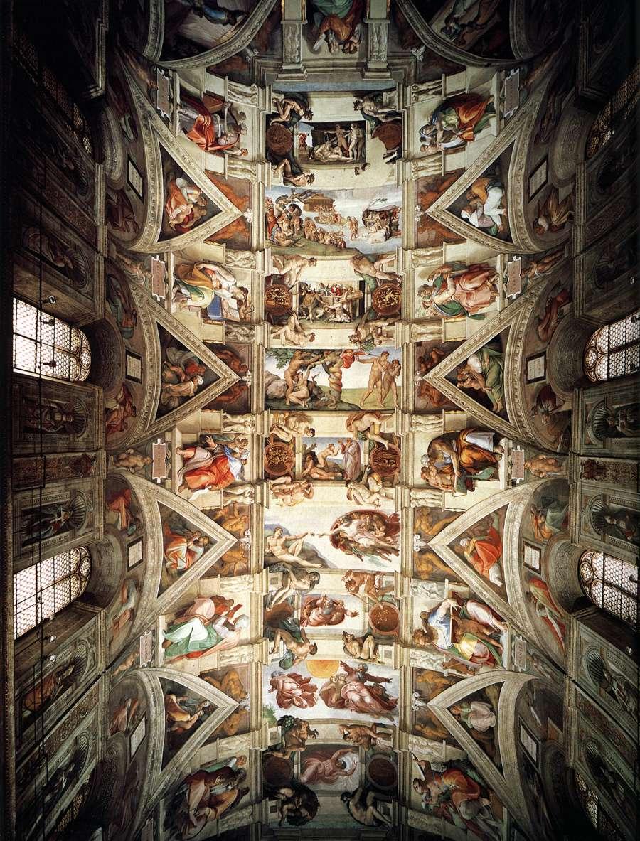 Historia del arte ii capilla sixtina - Michel ange le plafond de la chapelle sixtine ...