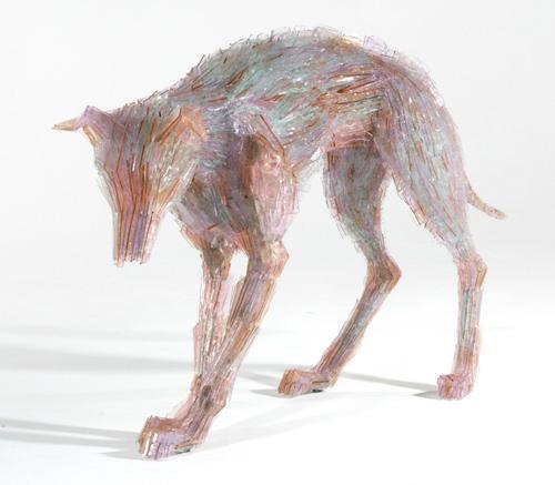 Marta-Klonowska-Animal-Glass-Shard-Sculpture-Venus-and-Adonis-after-Peter-Pau- Rubens-3b