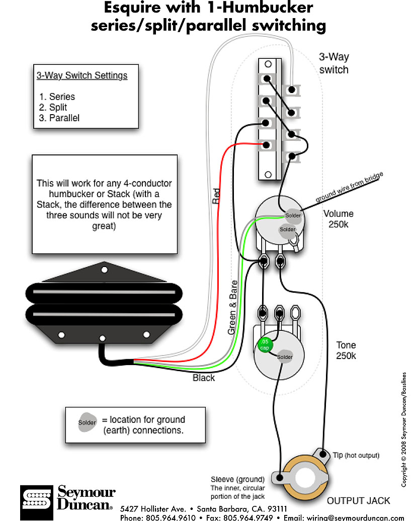 Esquire Wiring Diagram Humbucker : Complete converting my fender telecaster tl beck into