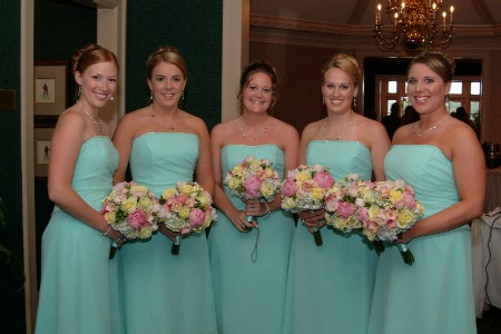 Black Bridesmaid Dress on Bridesmaids Gowns  Strapless Aqua Bridesmaid Dresses
