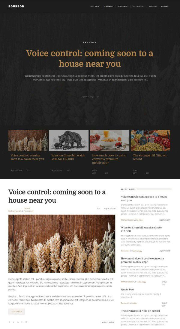 Bourbon responsive themes for wordpress blogs