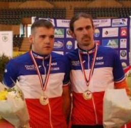 Champion de France de vitesse sur piste et vice champion de France sur piste du Km - février 2012