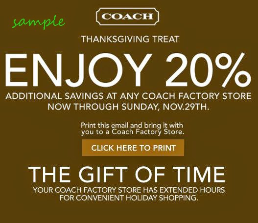 Coach discount coupons
