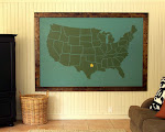 $20 DIY wall map