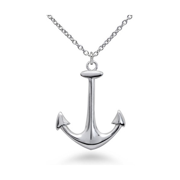 Silver Anchor Necklace4