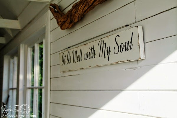 Painted Sign on Salvaged Wood via Knick of Time @ knickoftimeinteriors.blogspot.com