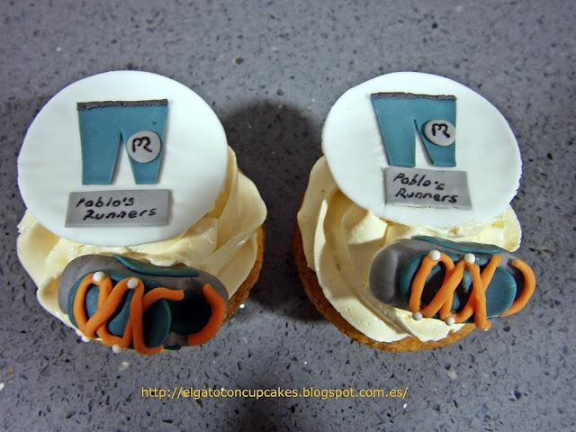 cupcakes zapatillas deportivas, cupcakes deportes