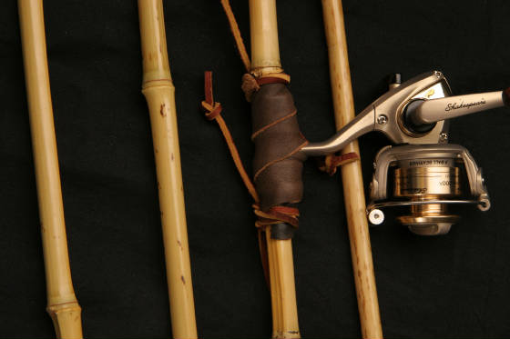 How to make a cane bamboo fishing pole with me