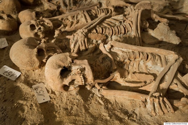 Un cementerio en un sótano en París.