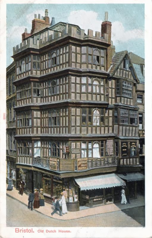 A postcard a day timber framed houses for Classic house bristol