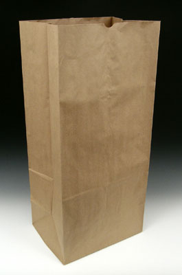 Green Fundraiser Lawn And Leaf Paper Bag No Print