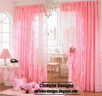 Top catalog of pink curtains for girls room unique designs for Curtain designs for girls bedroom