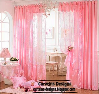 Top Catalog of Pink curtains for girls room unique designs