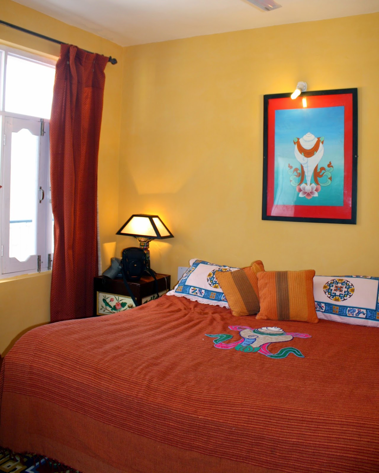 White Conch Room 8 Auspicious Him View Hotel McLeod Ganj Dharamsala India