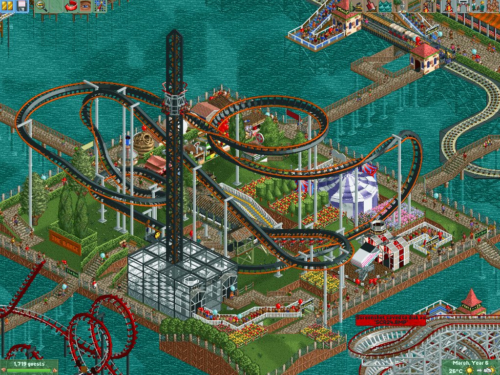 roller coaster tycoon how to build undergroudn