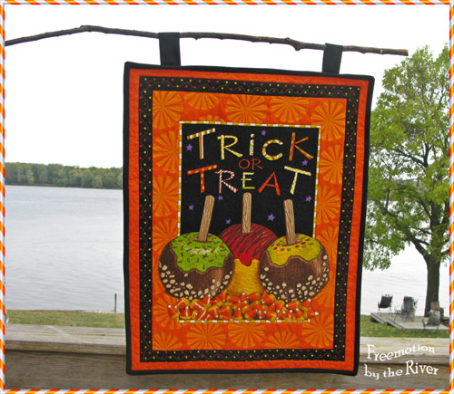 Trick or Treat quilted wall hanging @Freemotion by the River